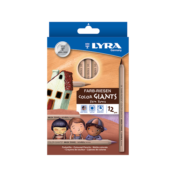 Lyra Giant Skin Tone Pencils